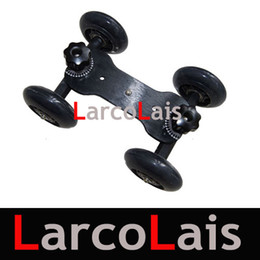 Wholesale NEW Black lbs TableTop compact Dolly Kit Skater wheel Camera Truck for video DSLR