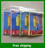 Wholesale Hot Disposable Raincoat Rainwear One Time Use Poncho Travel Rain Coat Rain Wear gifts