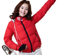 Wholesale Sweethearts outfit women red color Jackets Set Waterproof Windproof Ski Suits minging1225