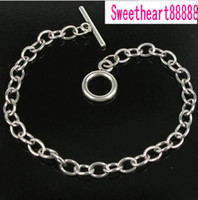 Wholesale MIC New Stainless Steel chain bracelet for dangles charms cm Jewelry Findings Components Hot sell MIC