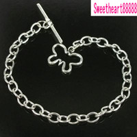 Wholesale MIC Stainless Steel Chain Butterfly Bracelet For Charms Dangles cm
