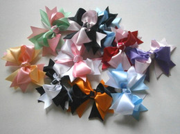 3.5 Inches Double-color Girls' Hair Accessories Bows Girls Boutique Hair Bows 60pcs
