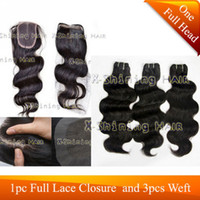 Wholesale Super Sale Mix Length pc Lace Closure Frantal and Hair Weft Brazilian Virgin Hair Weave
