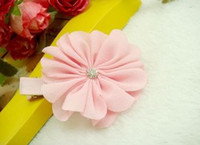 man made diamond - New Arrival Baby Girl s Pink Series Hair Pins Children s Flower Man made Diamond Cute Hair Clips