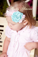 baby amour - Baby Amour YTR09 Headbands Beautiful Flower Hair Band Feather Hair Band Girl Hair Accessories