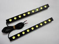Wholesale 2pcs DRL x LED light strip v universal car daytime running lights auto led lights Waterproof Lens