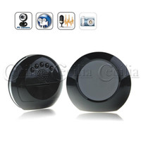 Wholesale DVR Mirror Face Clock Style Digital Hidden Camera with Motion Detector Remote Control SS158076