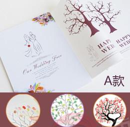 Wholesale 2012 New Wedding Guest book Fingerprint Tree Custom Print Guestbooks Wedding favors