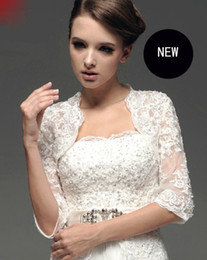 Wholesale NEW Tulle Applique Lace Wedding Bolero Jacket