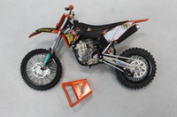 Wholesale KTM Motorcycle Model motorbike electric motor car Vehicle Toys Models Diecast Cars Black Orange