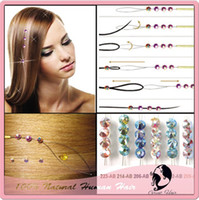 Wholesale queen great hair Fashion Crystal Hair Extension Bling In Stock packs