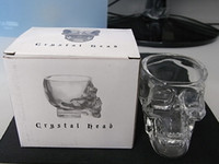 Wholesale Crystal Skull cup Home Bar Drinking Ware Crystal Skull Head Vodka Whiskey Shot Glass Cup SKull Mugs