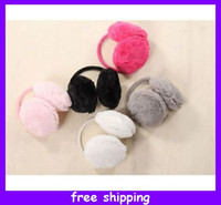 Wholesale New Fashion Warm Plush Fluffy Colorful Ear Cover Earmuffs Ear Earlap Earshield Earwarmers