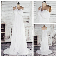 Wholesale 2012 Collection One Shoulder Ruffle and Beaded Chiffon Lastest Wedding Dress Designs Photo