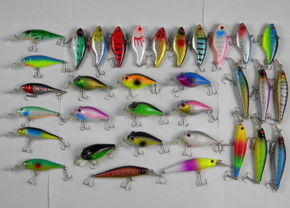 Mixed minnow crank vib fishing lure hard bait tackle for Cheap fishing tackle
