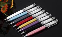 Wholesale Christmas gift Universal Diamond Crystal touch stylus Ball piont