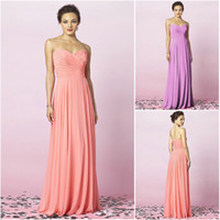 Wholesale 2013 Bridesmaid Dresses Sweetheart Chiffon Floor Length Column Pleated Ruched Ruffle After Six
