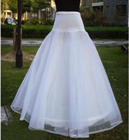 100% Cotton average wedding size - Only White Average Size Best Selling Cheap A Line Tulle Bridal Petticoats Wedding Underskirt Crinolines Bridal Accessory