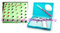 Mixed Color american butter - Newest Ear Stud For Body Piercing Gun Ear Hole Kit profession mm Pin Nail card butter