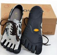 venda por atacado five finger sport shoes-respirável sapatos masculinos camuflagem dedo do pé, cinco dedos sapatos, calçados esportivos tênis reduzir o beribéri, a forma correta pé - 5toe