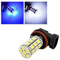Wholesale 2x H11 SMD led strobe fog lights dual mode universal fog lamp beacon auto led flashlight