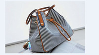 Wholesale Xmas Activity Classic bag new trend bag striped drawstring shoulder bag drop shipping bag