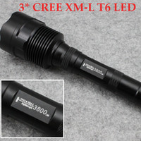 Wholesale Trustfire T6 LED Flashlight PC Mode Lumens CREE XM L T6 LED Flashlight High Power Torch