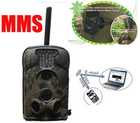 Little Acorn Yes Yes Ltl Acorn 5210MM 940nm Blue led 12MP MMS GSM animal hunting trail camera external antenna with solar charger free shipping