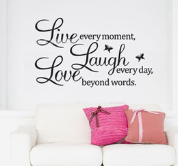 Wholesale Live Laugh Love wall stickers fashion wall decoration