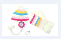 Wholesale Cheap Children Scarfs - NEW male girl child baby lovey Basque beret + lovely scarf baby CHEAP 4color 1sets lot free Shippin