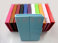 Folding Folio Case 7'' universal 100pcs lot Stand Universal 7 inch Tablet PC Leather Flip Case Cover for iPad Air Mini 2 3 4 for Samsung Galaxy Tab 2 3 free shipping