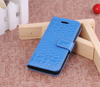 Leather For Apple iPhone  Crocodile Type Wallet Leather Case Holder For Apple Iphone 5 Iphone5 5G (A006),NO Package,30pcs lot
