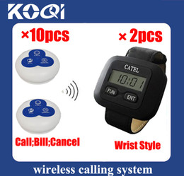 DHL freeshipping Easy install wireless waiter call system for coffee room Can show service type
