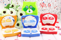 Wholesale contact lense cases for Freshlook contact lens contact lense boxes small raccoon