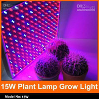 Cheap Red & Blue plant grow light Best 15W Square 225 led