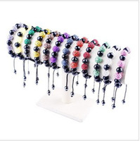 Wholesale Christmas Jewelry Glass crystal diamond ball woven bracelet DIY bracelet