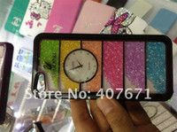 Wholesale swarovski crystal case for iphone with precision clock luxury packaging case