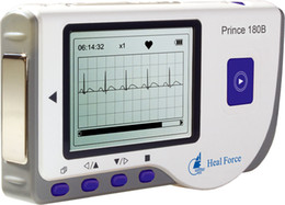 Wholesale HEAL FORCE PRINCE B Handheld Easy ECG EKG Portable Heart Monitor Software USB oximeter probe ox