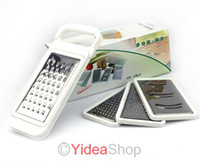 Wholesale 1set GRATER CONTAINER CHEESE SALAD VEGATABLES CHOPPER SHREDDER SLICER ZESTER