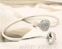 Wholesale NEW ARRIVED HOT SALE K GP heart bracelet crystal