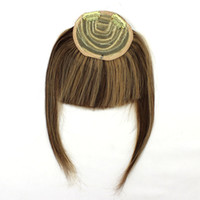 Wholesale Remy Human hair clip on bangs Fashion hair more charming