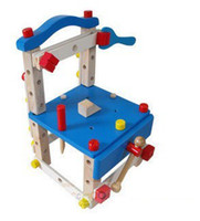 Wholesale Preschool Educational Toys For Children Wooden Model Build Tool Chair YW