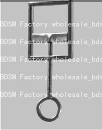 BDSM FATORY stainless steel ball stretcher ball toy male chastity device