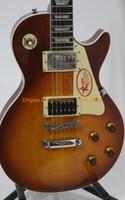 achat en gros de miel éclatement guitare-Honey Burst Guitare Jimmy Page Two VOS électrique Acajou guitares en gros Livraison gratuite