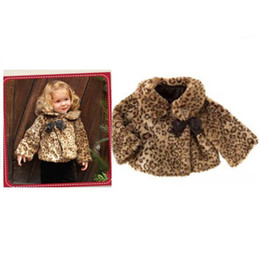 Wholesale Cheap Animal Collars - Baby Girls' coat kids children leopard tops outwear girls parkas Outwear Children's winter coat cape Cheap why