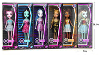 Wholesale High school girl Monster High school Bobbi doll zombie Girl Figure Girls Toy Figure Xmas Gifts