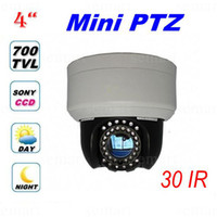 Wholesale 4 Inch IR High Speed Dome Mini PTZ Camera TVL SONY CCD Effio X ZOOM