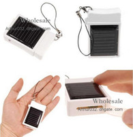 Wholesale Fashion New MD968 Mini Solar Battery Panel Charger Portable For IPhone G S G IPAD ipod