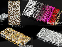 Wholesale Holiday sale For iphone case Electroplating processing Golden Silvery Palace Flower luxury quality
