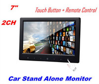 Wholesale 7 quot TFT LCD CH Video Input Touch lcd Buttons Car Rearview Headrest DVD VCR Monitor Stand alone Free